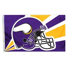 NFL Minnesota Vikings 3 Ft. X 5 Ft. Flag W/Grommetts