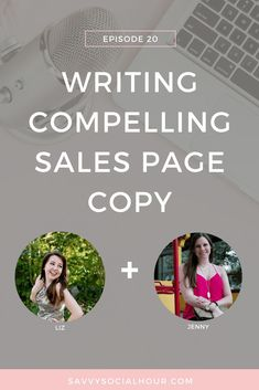In today's episode of the Savvy Social Hour, you will learn how to create compelling sales copy with Liz Theresa. If you're struggling to create sales copy, then this is the episode for you. Creative Business, Business Tips, Online Business, Business Writing, Web Design Tips, Copywriting, Blogging For Beginners, Social Media Tips, Blog Tips