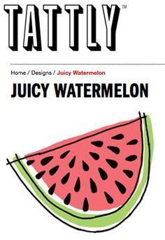 My new Juicy Watermelon Tattly