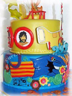 """the Beatles """"Yellow Submarine"""" cake"""