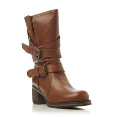 DUNE FEMME - ROCKING - Bottes mi-mollet en cuir avec boucle - fauve | Boutique en ligne Dune Shoes