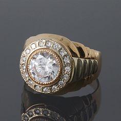 Anillo hombre grande grande del anillo de signet por JewelryAsteria