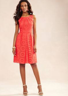 ADRIANNA PAPELL  Lace Fit-and-Flare Dress  $59.99 ideeli