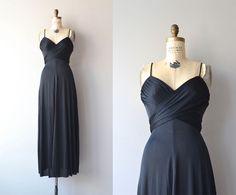 Lou Lou dress   vintage 1970s maxi dress • black jersey wrap dress by DearGolden on Etsy https://www.etsy.com/listing/228291390/lou-lou-dress-o-vintage-1970s-maxi-dress