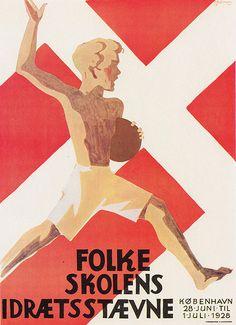 Denmark/Danmark - Copenhagen/København - poster for the County Council public schools sport tournament/Folkeskolens Idræt staeven, 1928 by m...