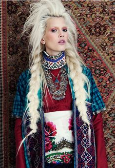 amazing blonde braids | get enough of are braids, platinum hair and volume! This amazing ...
