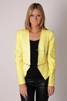 zipped up blazer