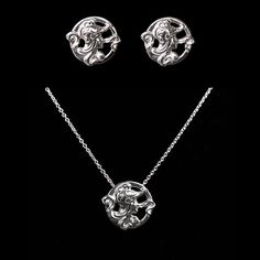 Athena Earring & Necklace Set reproduction jewelry art deco