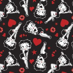 Last 1 yard 14 inches Betty Boop Sassy Love Kisses Hearts Cotton Fabric Son Birthday Quotes, Happy Birthday Sister, Happy Birthday Images, Aprons Vintage, Vintage Labels, Wallpaper Kawaii, Imagenes Betty Boop, Betty Boop Cartoon, Classic Cartoons