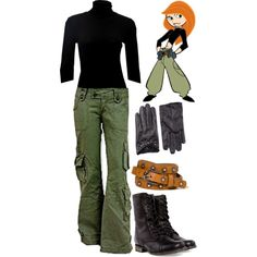 Kim Possible by merahzinnia on Polyvore featuring Splendid, Steve Madden, Morgan & Taylor and Forever 21