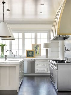 Goodman Pendants, range hood, windows | Melanie Turner