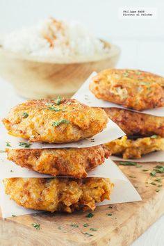 Receta de las tortitas de atún. Receta con fotografías del paso a paso y recomendaciones de degustación. Recetas de comida casera mexicana fácil de hacer