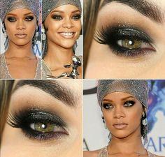 Olho Rihanna esfumado noite