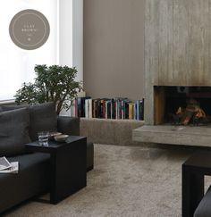 Een rustige sfeer met stoere materialen vraagt om toepassing van The Color Collection, onze kalkmatte muurverflijn met kleuren met een persoonlijke uitstraling. De kalkmatte glansgraad zorgt voor extra luxe en rust.
