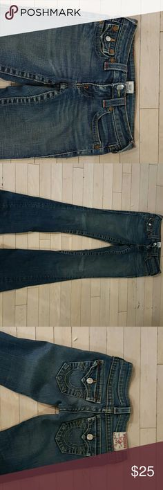 True religion jeans size 24 by 31 & 1/2 True religion jeans size 24 by 31 & 1/2... these are classic awesome True Religion jeans professionally hemmed to 31 and a half inseam... goes with everything! True Religion Jeans Boot Cut
