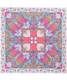 Hot Pink and Turquoise Ianthe Print Silk Scarf, Liberty London. Shop the full Liberty London collection at Liberty.co.uk.