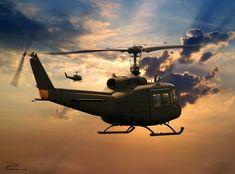 Vietnam History, Vietnam War Photos, Military Helicopter, Military Aircraft, Military Art, Military History, Airplane History, Planes, Military Drawings