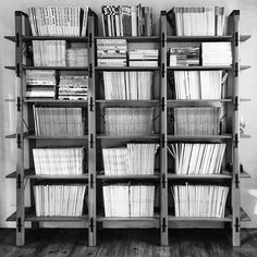 A #bookshelf full of #fashion #magazines at a client in #NYC #newyork #newyorkcity #agency #agents #modelagency #modeling #talent #bookingsystem #software #model #booking #booker #agent #artist #talent #bandw #bw #mono #bnw #monochromatic...