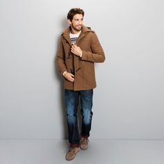 Manteau jules marron