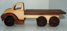 Wooden toy tray truck
