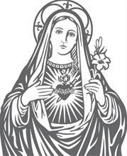 Inmaculado Corazón de María vectorial desde Logo-arte.com