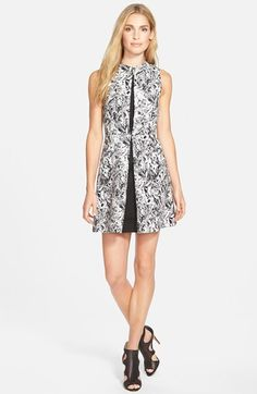 Michael Kors Lake Print Pleated Cotton Sa Dress Regular Pee Nordstrom