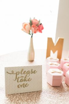 Gold and blush pink bridal shower