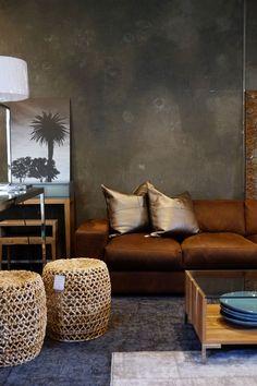 Metallic leather cushions - Klooftique showroom