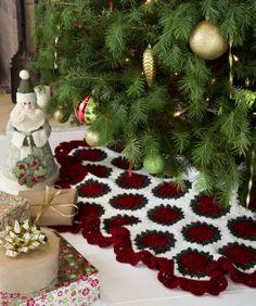 Victorian Tree Skirt Crochet Pattern  #Christmas  #holiday