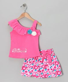 Take a look at this Pink 'Princess' Tank & Bubble Skirt - Infant, Toddler & Girls by Littoe Potatoes on #zulily today!