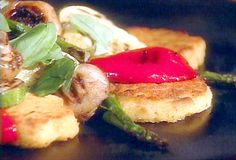 Roasted Polenta with Garden Vegetables from FoodNetwork.com