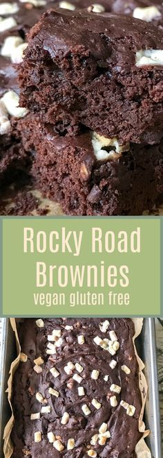 These delicious vegan brownies are soft, gooey and gluten free. Avocados are used instead of egg to make them rich and creamy. Don't cook them too long or they'll have more of a cake texture. #vegan #glutenfree #brownies #avacados #eggfree #recipe