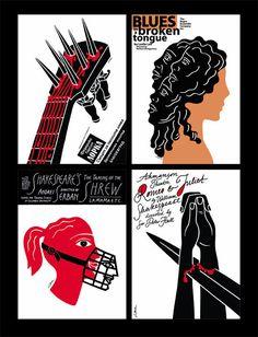 Автор Люба Лукова,  Ее плакаты быстро передают замысел, только чистая идея, ничего лишнего и в результате достигается максимум внимания от зрителя.