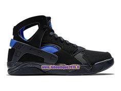 Officiel Nike Air Flight Huarache - Chaussure de Nike Basket-ball Pour Homme Noir/Bleu de Lyon 705005-002