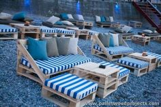 Pallet Outdoor Seating Arrangment More More