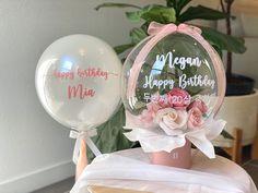 Balloon Box, Balloon Gift, Balloon Flowers, Balloon Bouquet, Clear Balloons, Bubble Balloons, Bubbles, Valentines Balloons, Birthday Balloons