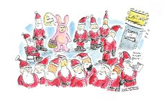 Christmas card for my talent agency (AMI: Artist Management Inc.) to send out. I'm an actor and they represent me. Funny Comic Strips, Artist Management, Talent Agency, Doodle Sketch, Funny Comics, Easter Bunny, Toronto, Illustrator, Acting