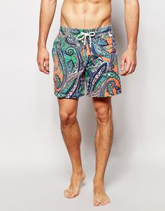 Swim shorts by Polo Ralph Lauren Lightweight fabric Mesh lining Drawstring waistband Paisley print Machine wash 72% Cotton, 28% Nylon