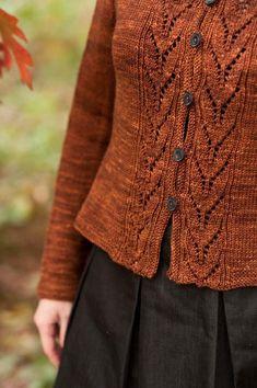Cardigan Orange, Knit Cardigan, Cardigan Pattern, Knit Sweaters, Knitting Projects, Knitting Tutorials, Pulls, Hand Knitting, Vogue Knitting