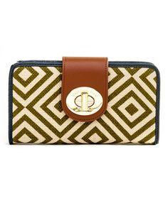 Another great find on #zulily! Brown Yemassee Trail Leather-Linen Blend Turn-Key Wallet #zulilyfinds