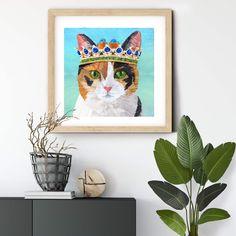 Princess cat design #gicleeprint #autism #autismawareness #catart #catprint #catdecor #catlover #princesscat #calicocat #wallart #walldecorart#walldecor #artprintsforsale #artprint