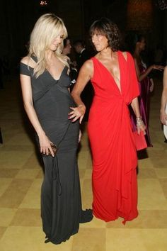 Pregnant Heidi Klum with Donna Karan at the CFDA Fashion Awards