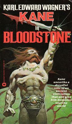 Karl Edward, Edward Wagner, Wagner Bloodstone, Frazetta Bloodstone, Ny Warner, Books 1983, Warner Books, Frank Frazetta, Fbid