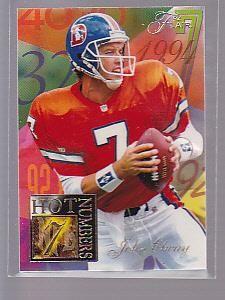 John Elway 1994 Flair Hot Numbers  4 Denver Broncos Quarterback stk1658-mahi adbea6a0c