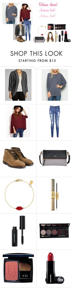 """For Scarlett (friend) - Scarlett's ideal wardrobe by me: #162: Dolman sleeves!"" by sarah-m-smith ❤ liked on Polyvore featuring Poliana Plus, Tommy Hilfiger, Dolce&Gabbana, Kate Spade, SB LONDON, tarte, Bobbi Brown Cosmetics and Christian Dior"