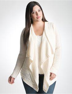 Plus Size Cable Knit Cardigan by Lane Bryant | Lane Bryant
