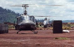 Vietnam War Print Huey Cobra Wait to Take Off at Quan Loi