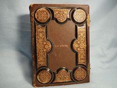 Vintage Photo Album, Gold Gilt Embossed leather, unused