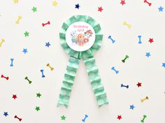 DIY BOY OR GIRL PAW PATROL ROSETTE BIRTHDAY BADGE