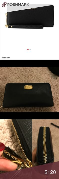 Michael Kors Wallet- Negotiable Gently used MK wallet. I LOVE this wallet, but I just bought a new one so I won't be using it anymore ☹️ does not come with wristlet attachment. It is in nearly perfect condition, however, the card slots may be slightly stretched. There is PLENTY of storage in this wallet. It holds 15+ cards! Side note- it ONLY comes with the wallet. If you are interested in the key pouch as well, I have it listed separately. I will do a bundle deal if you're interested! Let…